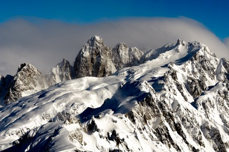 Landscape photography of the mountains around Chamonix, France