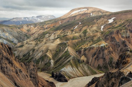 Landscape photo of the mountains in Landmannalaugar, Iceland